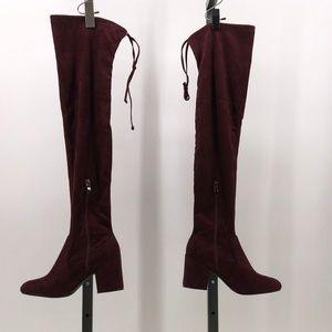 Catherine Malandrino OTK porcha Boot burgundy 6.5